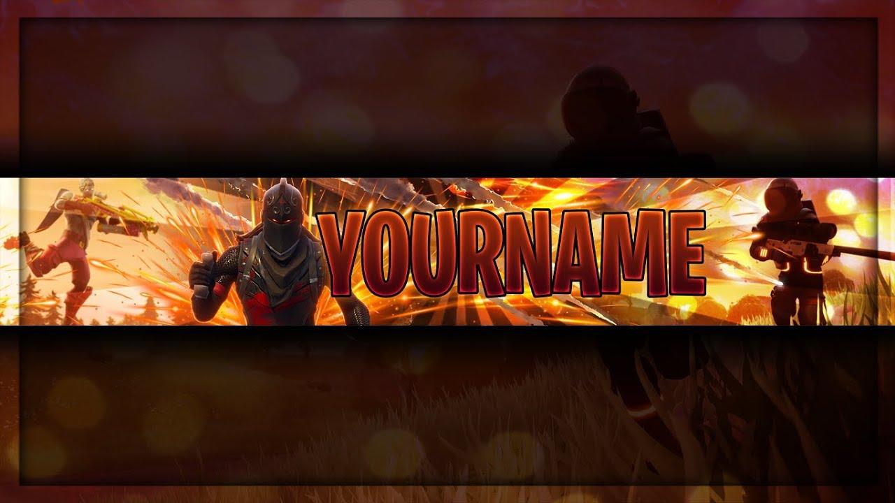 Fortnite Battle Royale Youtube Banner Template Fortnite Channel