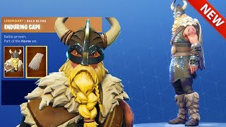 *NEW* MAGNUS VIKING SKIN, ENDURING CAPE BACK BLING & FOREBEARER AXE - FORTNITE BATTLE ROYALE