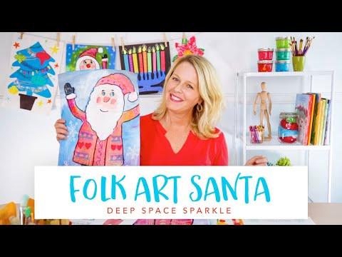 Folk Art Santa | ART PROJECTS FOR KIDS