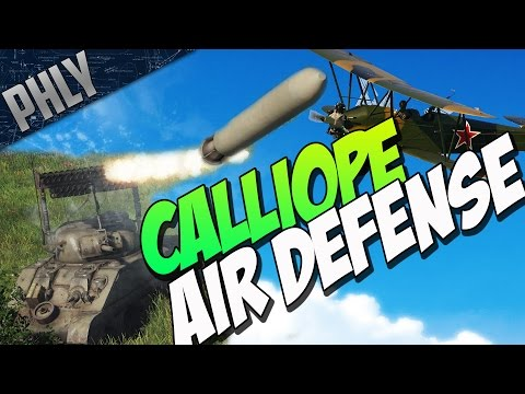 War Thunder -  T34 Calliope VS Planes! ROCKET AIR DEFENSE!