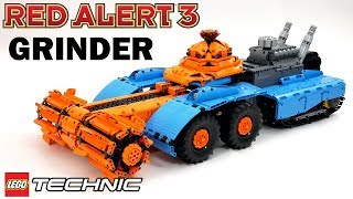 Lego Technic Red Alert 3 GRINDER Tank Video