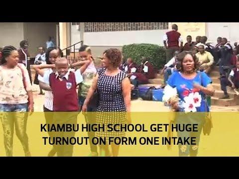 Kiambu high school get huge turnout on form one intake