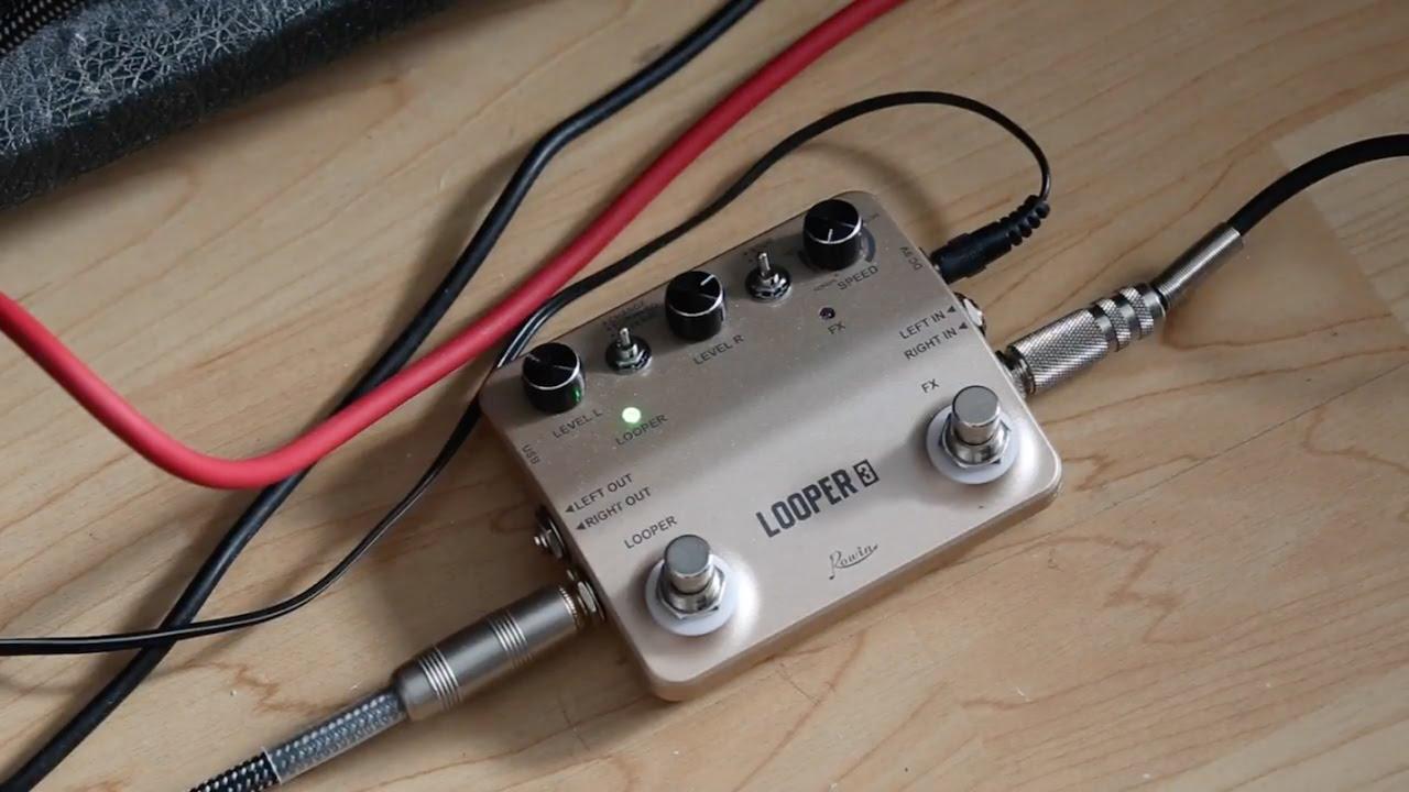rowin looper 3 looper pedal electric guitar test youtube. Black Bedroom Furniture Sets. Home Design Ideas