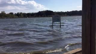 お聞きの通りの強風で御座います、風音が録りまくり、湖面もまるで海の...