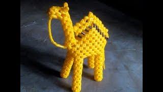 Plastic wire camel step by step clear Tutorial in Tamil (1/2) / கூடை  வயரில்  ஒட்டகம்  செய்தல்