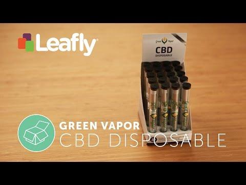 CBD Disposable Vape Pen by Green Vapor – Product Spotlight