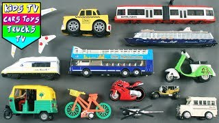 Back TO School Vehicles For Kids Children Babies Toddlers | Car Taxi Bus | Kids Learning | Kids TV
