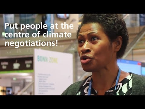 Frances Namoumou, Pacific Conference of Churches after COP23:  talk to your government!