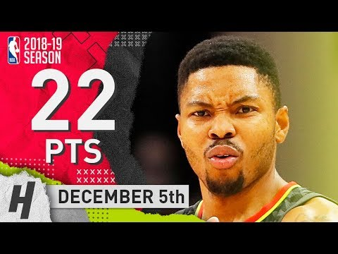 Kent Bazemore Full Highlights Hawks vs Wizards 2018.12.05 - 22 Pts, 6 Ast, 4 Steals!