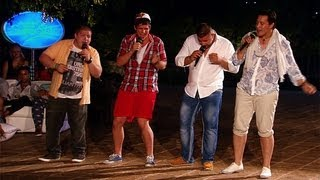"""DSDS 2013 Micha, Bojan, Ricardo, Björn mit """"All Night Long"""" von Lionel Richie"""