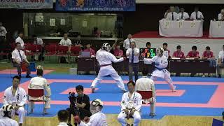 2018IH  空手道男子 個人組手2回戦 1 27 八島(福島県)vs熊谷(佐賀県)