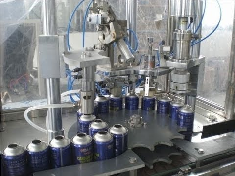 Aerosol Cans Spary Filling Capping Machine Rotary Filler