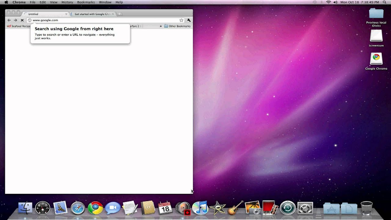 google chrome mac os x 10.6.8