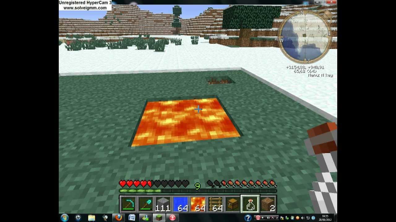 Minecraft comment faire un passage secret dans la lave - Comment faire un evier dans minecraft ...