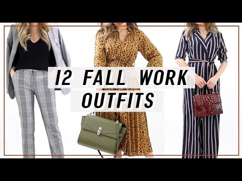 12 Fall Work Outfits Lookbook 2018 | Fall Work Fashion 2018 | Miss Louie