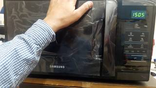 How to use samsung 20 liter solo microwave oven 73 AD-B full demo