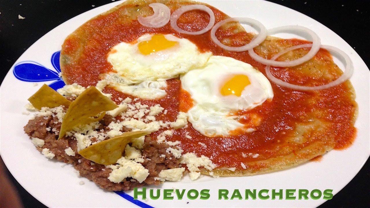 receta de huevos rancheros youtube