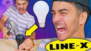 This Spray Makes ANYTHING UNBREAKABLE! (LINE X As Seen On Tv Product Test) *WILL YOU BLOW YOUR MIND*