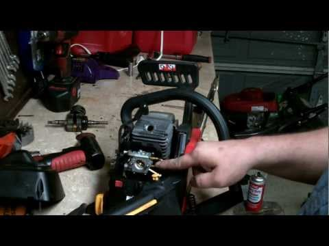 HOMELITE CHAINSAW REPAIR : how to rebuild the carburetor and minor tune up (FULL AND UNCUT)