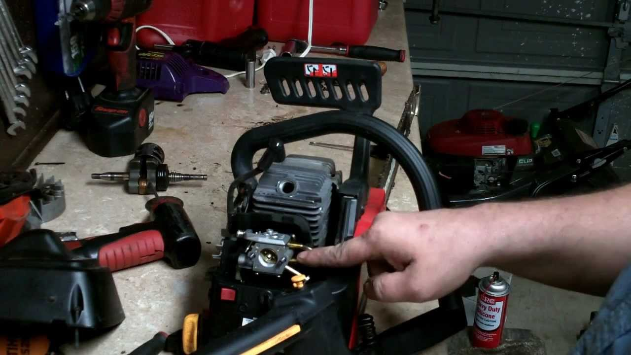 HOMELITE CHAINSAW REPAIR : how to rebuild the carburetor and minor tune up (FULL AND UNCUT
