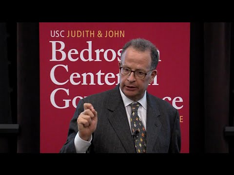 """USC Gould School of Law professor Edward Kleinbard led a discussion titled, """"We Are Better Than This: How Government Should Spend Our Money,"""" hosted by the Bedrosian Center on Governance and the Public Enterprise. Kleinbard also served as Chief of Staff of the U.S. Congress Joint Committee on Taxation, the nonpartisan tax resource to Congress."""