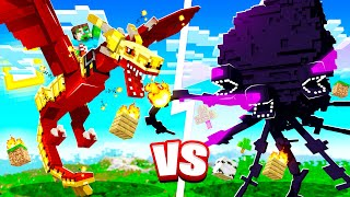 STRONGEST DRAGONS vs THE WITHER STORM in MINECRAFT!