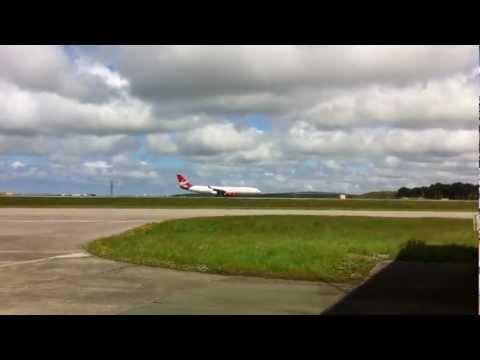 Virgin Atlantic Filming At Newquay Airport May 11, 2012