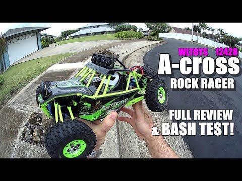 WLTOYS ACROSS 4X4 1/12 Rock Racer Review - [UnBox, Inspection, Drive/CRASH Test, Pros & Cons]