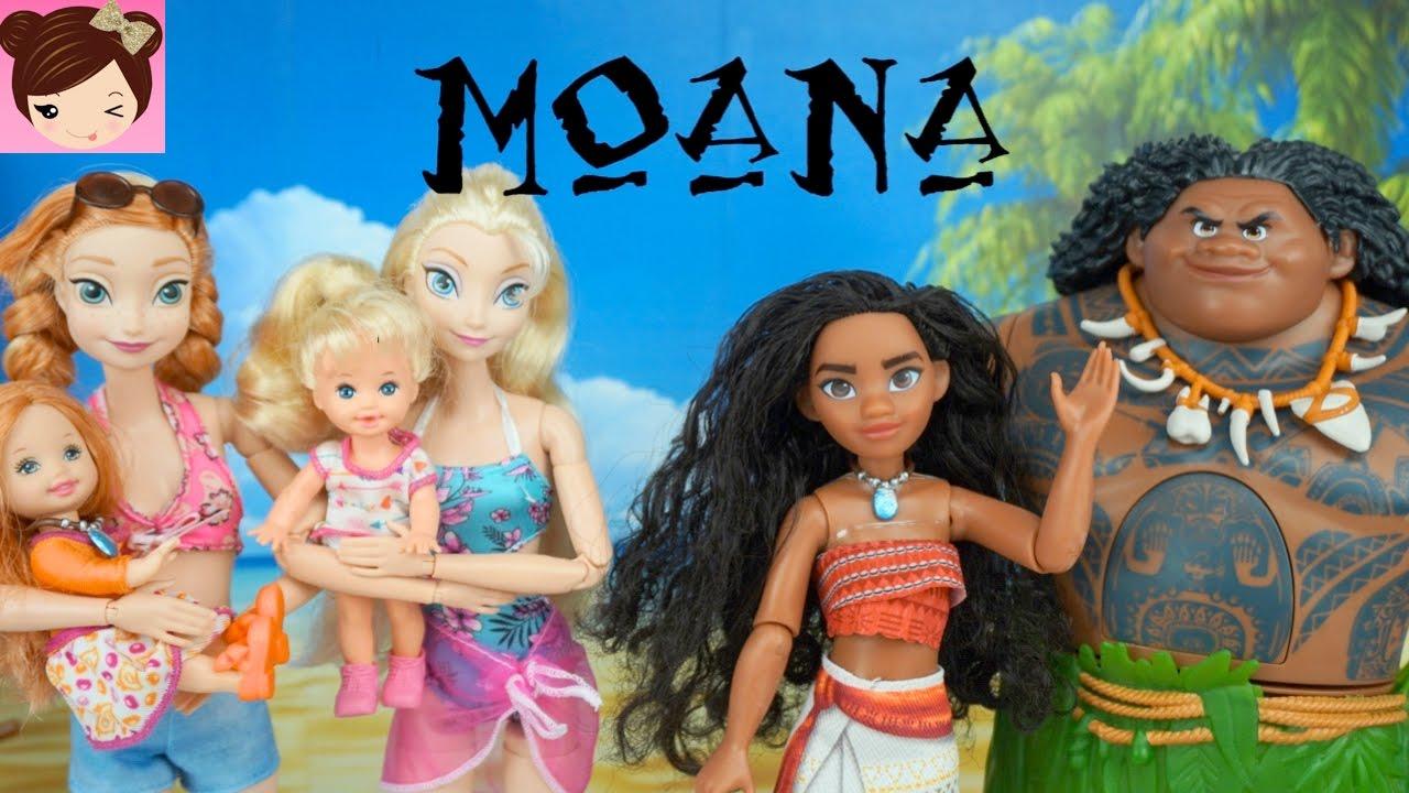 Disney Moana Saves Frozen Annas Baby Moana Doll Episode