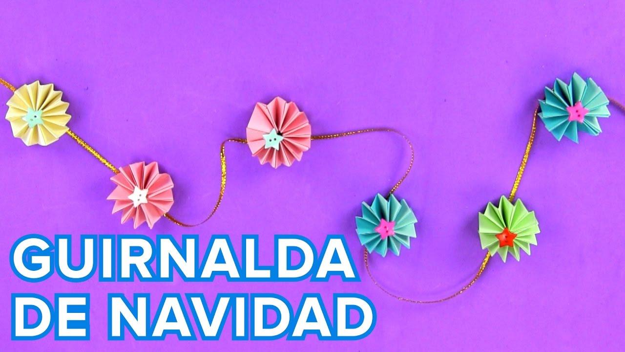 Guirnalda De Origami Manualidades De Adornos Para Fiestas - Guirnaldas-para-fiestas-infantiles