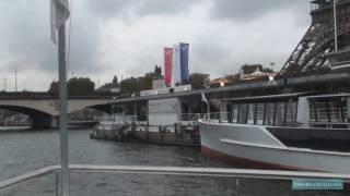 A HD boat cruise along the river Seine in Paris