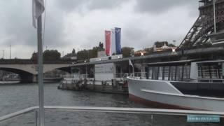 A HD boat cruise along the river Seine in Paris