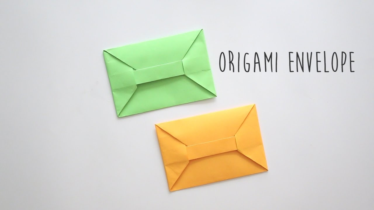 Origami Envelope A4 Sheet Youtube