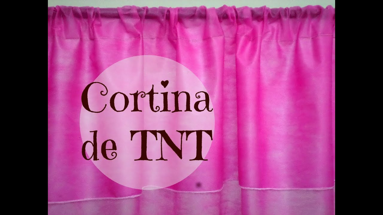 Cortina de tnt passo a passo youtube for Colocar papel mural