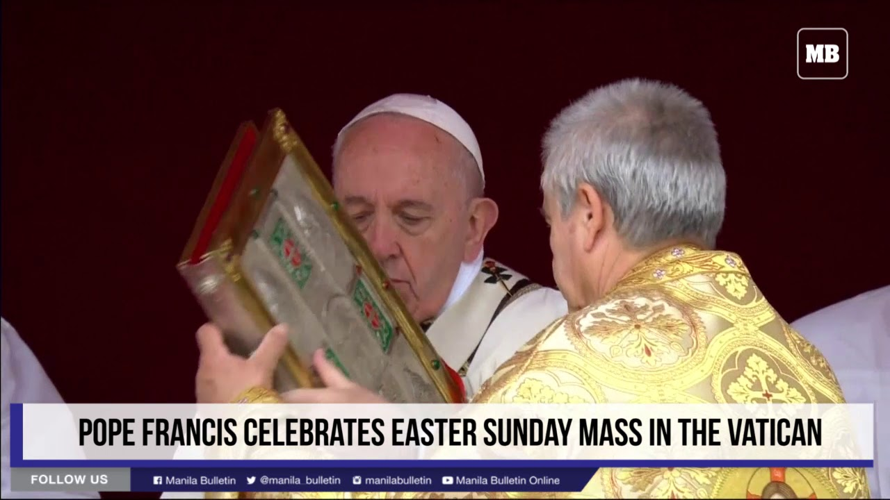Pope Francis celebrates Easter Sunday mass in the Vatican