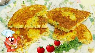 рецепт сырной лепешки с геркулесом быстрый завтрак