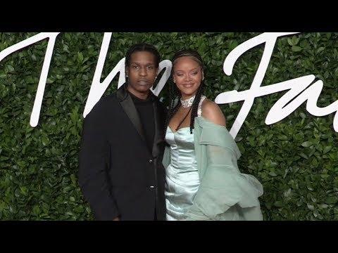 Rihanna and ASAP Rocky at the British Fashion Awards 2019
