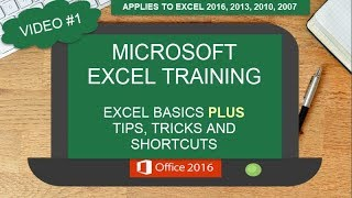 EXCEL BASICS PLUS TIPS TRICKS AND SHORTCUTS | FEATURING MICROSOFT EXCEL 2016 | EXCEL TEMPLATES | #1