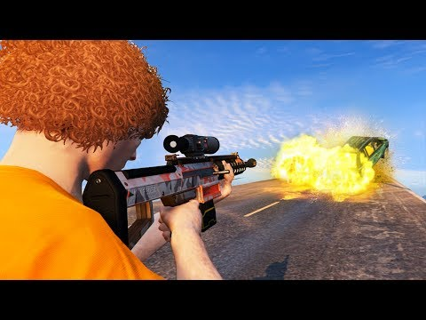 NEW EXPLOSIVE BULLETS SNIPER RIFLE! (GTA 5...