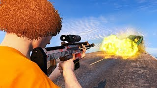 NEW EXPLOSIVE BULLETS SNIPER RIFLE! (GTA 5 Gun Running DLC)