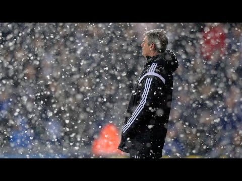 Alan Irvine is interviewed after 3-1 Premier League defeat by Manchester City