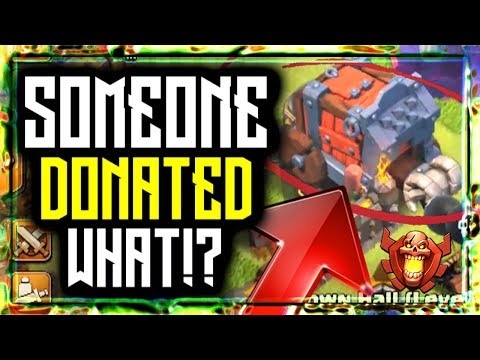 DONATED A WALL WRECKER In Clash Of Clans!? 🔥 Siege Machine Town Hall 10 NO GLITCH HACK TRICKS 2019