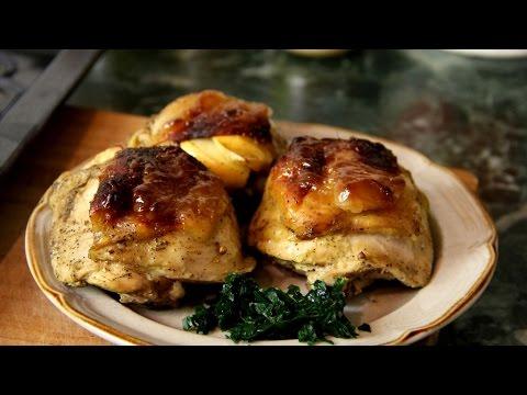Ооочень вкусные куриные окорочка в духовке с яблоками