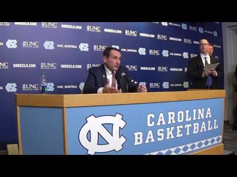 Duke UNC Coach K Presser
