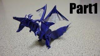 Origami Fiery Dragon 折り紙 折り方 ドラゴン thumbnail