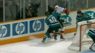 Rene Bourque vs Torrey Mitchell Jan 18, 2010 - Sportsnet feed