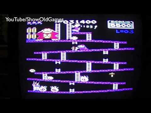 Commodore 64 - Donkey Kong (My World Record Score) Part 1/2