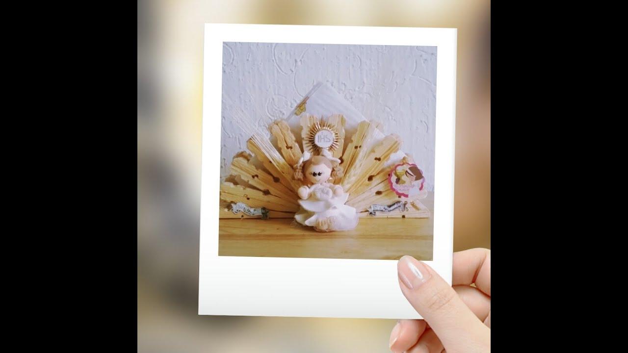 Diferentes decoraciones de servilletero de pinzas primera - Manualidades para primera comunion ...