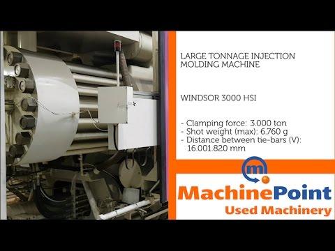 WINDSOR 3000 HSI Used LARGE TONNAGE INJECTION MOLDING MACHINES MachinePoint