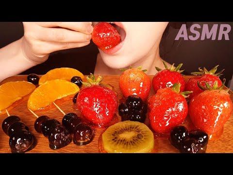 과일탕후루ASMR 오렌지,키위,블루베리, 딸기탕후루 먹방 이팅사운드 리얼사운드 NO TALKING 러브LuvASMR